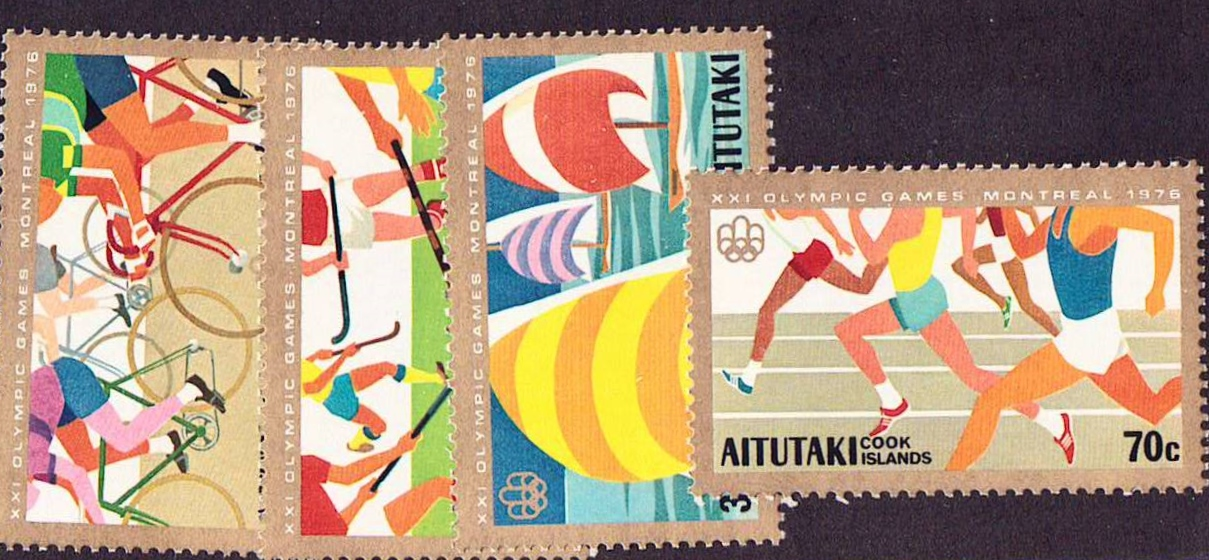 Aitutaki Scott 127-130, MNH, Sports, set of 4