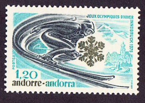Andora Scott 244, MNH, Sports, winter Olympic games, a single st
