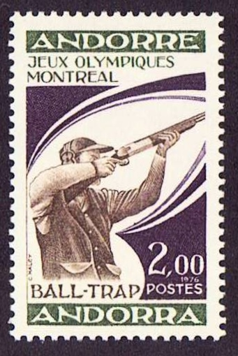 Andora Scott 249, MNH, Sports, Summer Olympic games, Gun, a sing