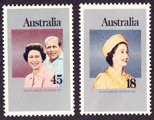Australia Scott 659-660, MNH, Silver Jubilee, a single set