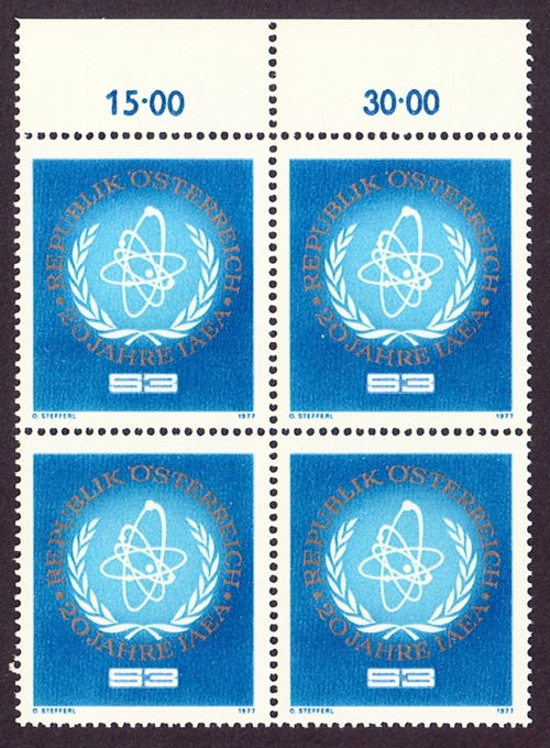 Austria Scott 1059, MNH, BL4, Block of 4, Atomic Energy