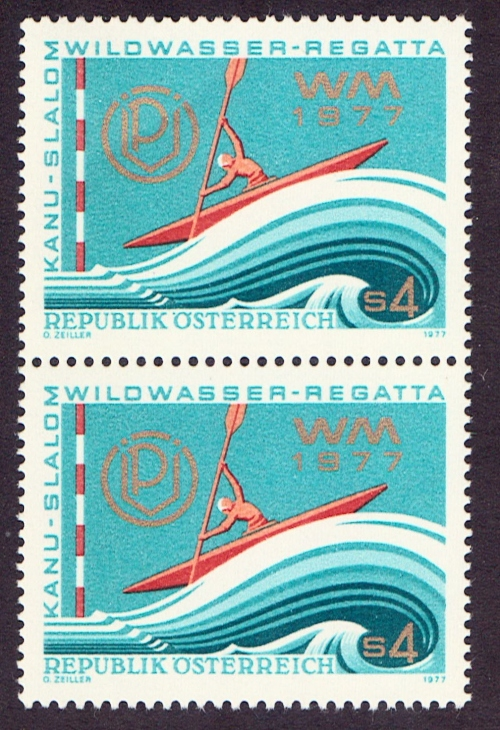 Austria Scott 1063, MNH, PAIR, Kayak Race
