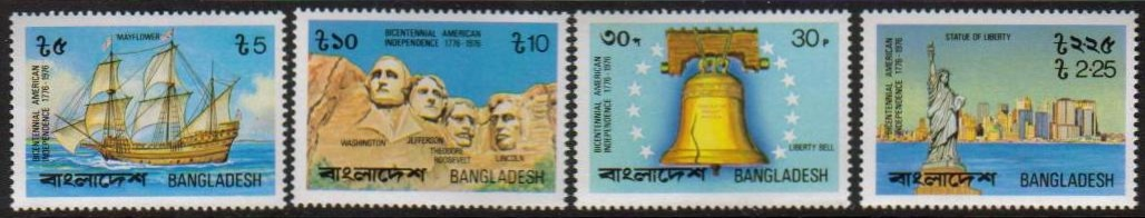 Bangladesh Scott 111-114, MNH, US Bicentennial, set of 4