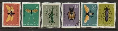 Bulgaria Scott 1332-1337, CTO, insects, set of 6, used, see imag