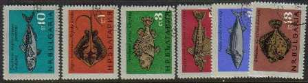 Bulgaria Scott 1403-1408, CTO, Fish, set of 6, used, see image