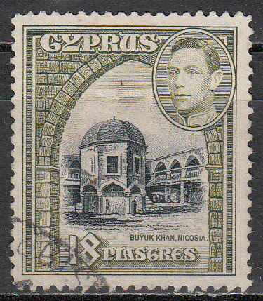 Cyprus Scott 152, used, single stamp 18 pi, see image