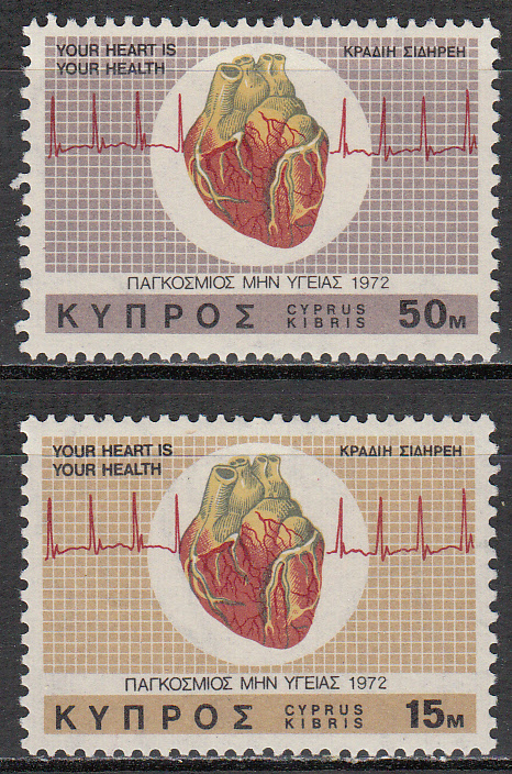 Cyprus Scott 378-379, MNH, World Health Day, complete set of 2,