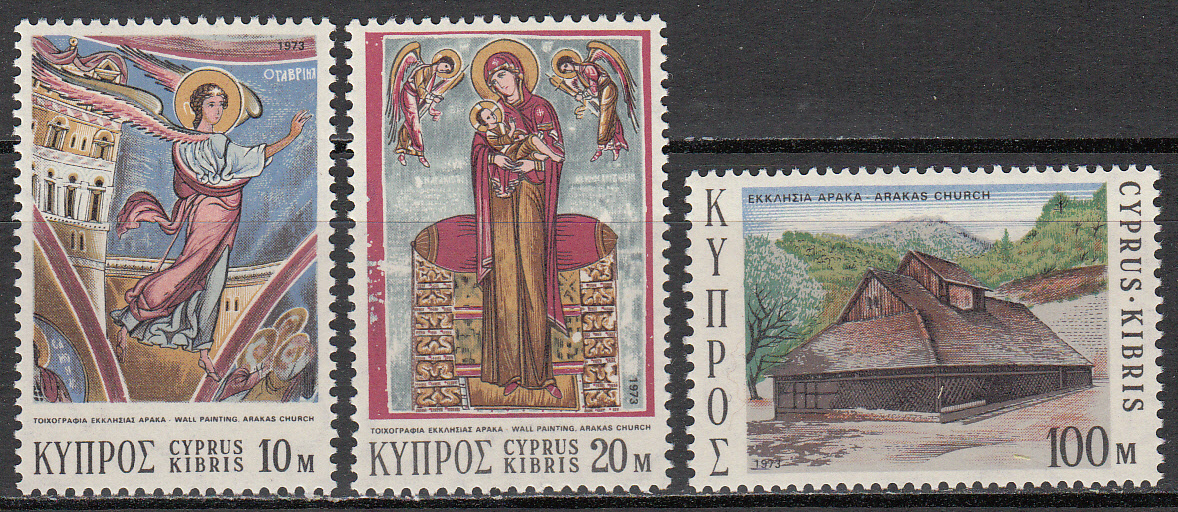 Cyprus Scott 409-411, MNH, Christmas 1973, complete set of 3, MN