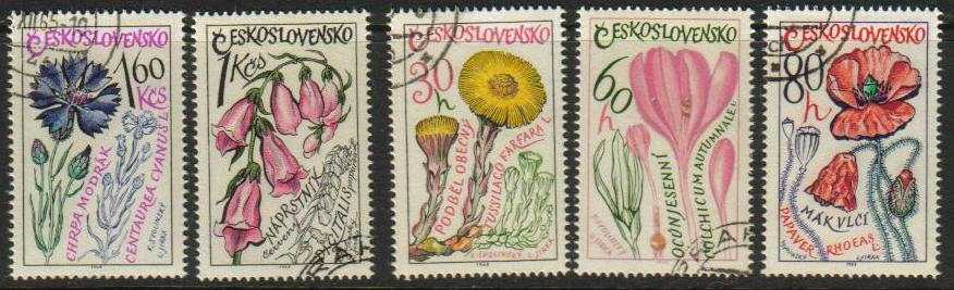 Czechoslovakia Scott 1354-60, CTO, Native flowers, set of 5, use