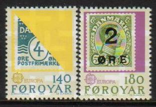 Faroe Island Scott 043-044, MNH, complete set of 2, Denmark #88