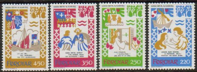 Faroe Island Scott 086-089, MNH, complete set of 4, children sto