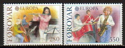 Faroe Island Scott 125-126, MNH, complete set of 2, Europa 1985