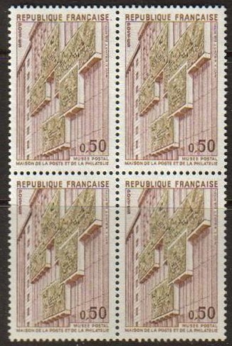France Scott 1389, MNH, Block of 4, complete set of 1, Postal Mu