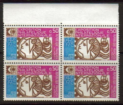 France Scott 1390, MNH, Block of 4, complete set of 1, Philateli