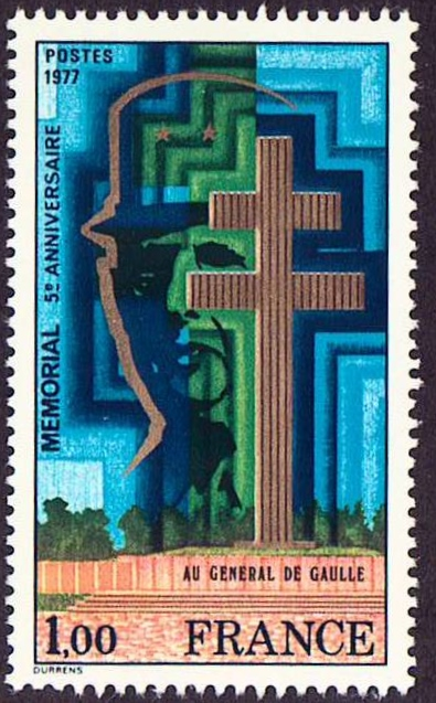 France Scott 1550, MNH, Chales De Gaulle Memorial, a single stam