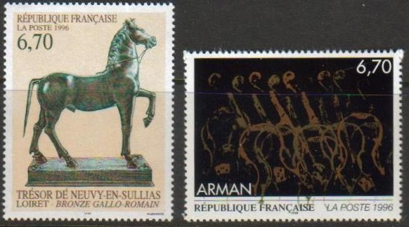 France Scott 2534-2535, MNH, Art Series, set of 2, Bronze Horse,
