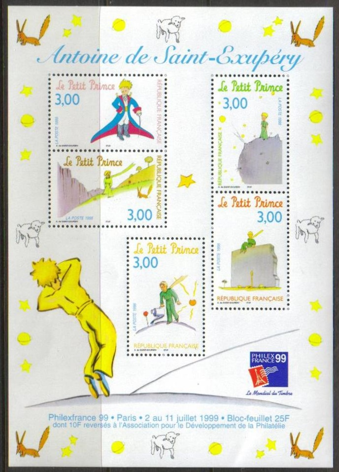 France Scott 2668s, MNH, The Little Prince special Souvenir Shee