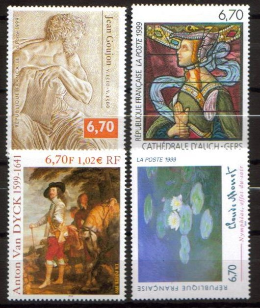 France Scott 2700-2703, MNH, Art Series, set of 4, St. Luke, Wat