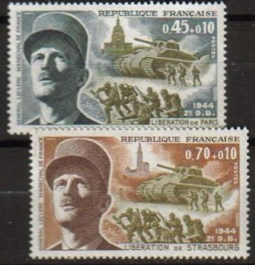 France Scott B-432-433, MNH, Gen. Jacques Leclerc, set of 2, Lib