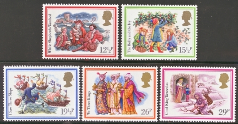 Great Britain Scott 1006-1010, MNH, 1982 Christmas, set of 5