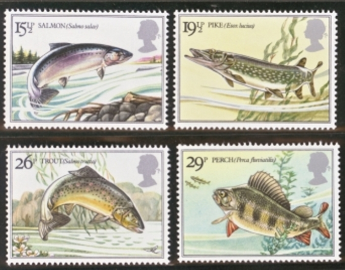 Great Britain Scott 1011-1014, MNH, 1983 River Fish, set of 4