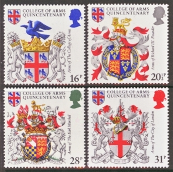 Great Britain Scott 1040-1043, MNH, 1984 Arms, set of 4