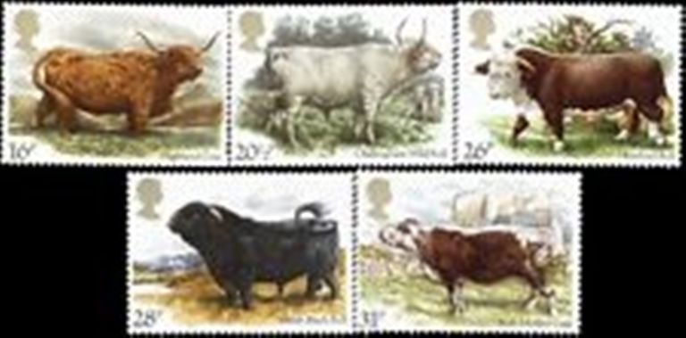 Great Britain Scott 1044-1048, MNH, 1984 National Cattle Breeder