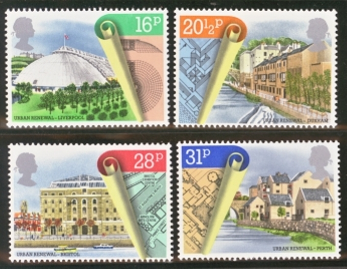 Great Britain Scott 1049-1052, MNH, 1984 Urban renewal projects,