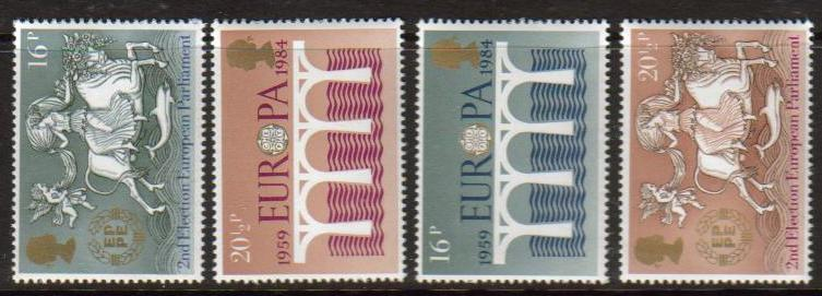 Great Britain Scott 1053-1056, MNH, 1984 Europa, set of 4