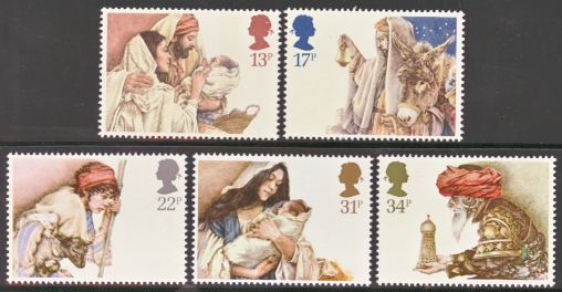 Great Britain Scott 1088-1092, MNH, 1984 Christmas, set of 5