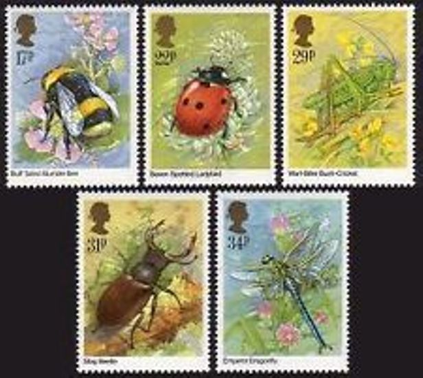 Great Britain Scott 1098-1102, MNH, 1985 Insetcs set of 5