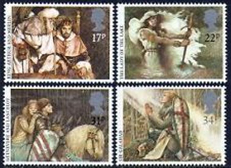 Great Britain Scott 1115-1118, MNH, 1985 Arthurian Legends, set