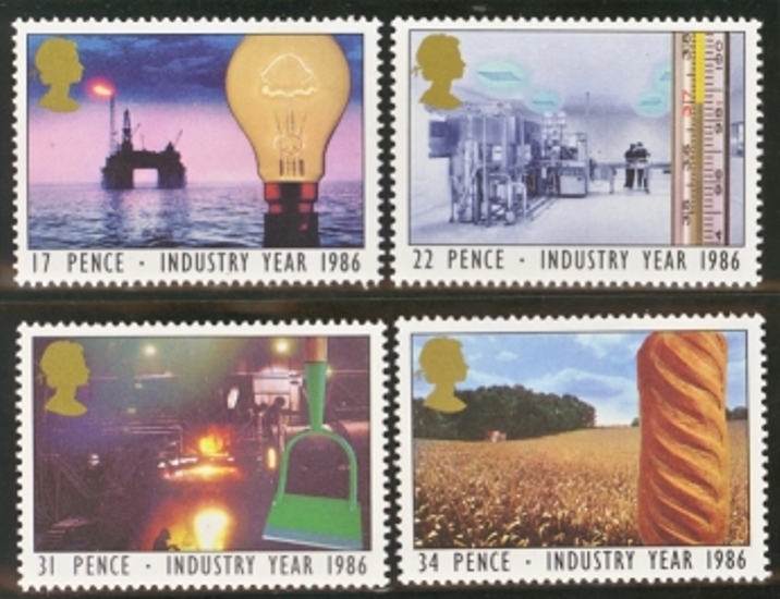 Great Britain Scott 1129-1132, MNH, 1986 Industry Year, set of 4