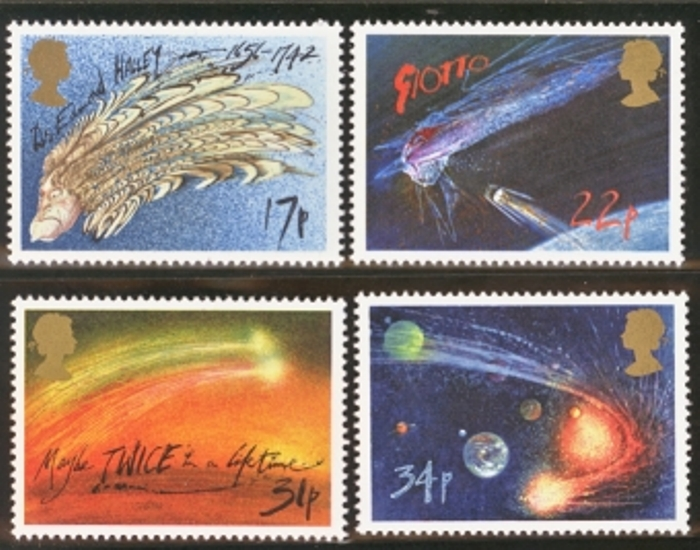 Great Britain Scott 1133-1136, MNH, 1986 Halleys Comet, set of 4