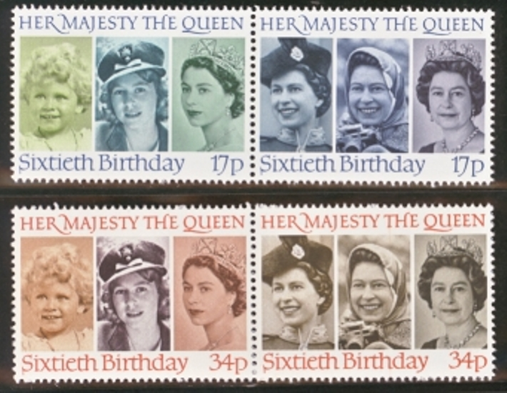 Great Britain Scott 1137-1140, MNH, 1986 Queen's 60th Birthday,