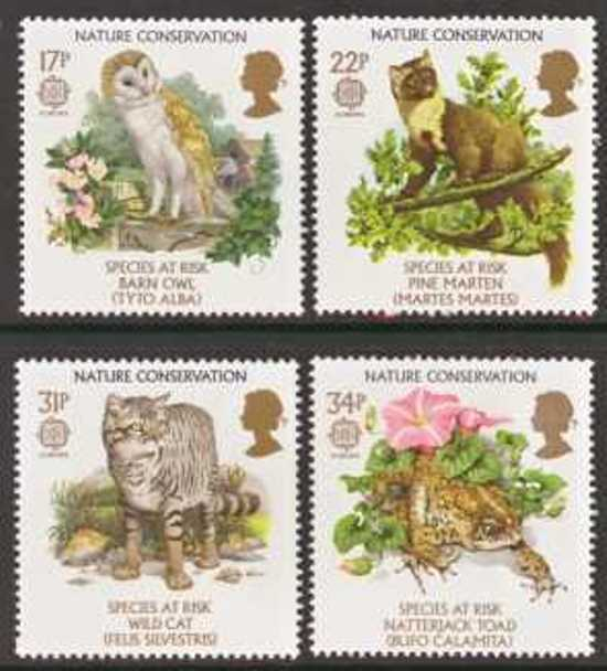 Great Britain Scott 1141-1144, MNH, 1986 Europa Birds and Flower