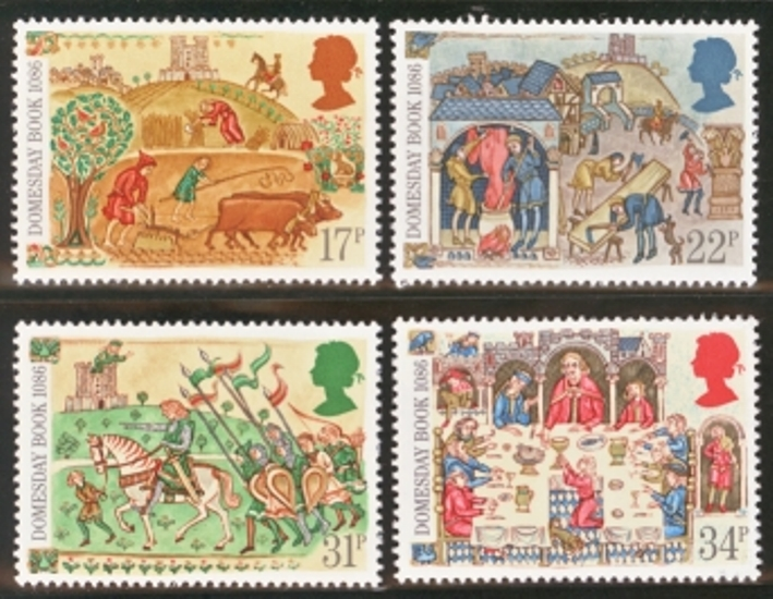 Great Britain Scott 1145-1148, MNH, 1986 Domesday Book, 900th An