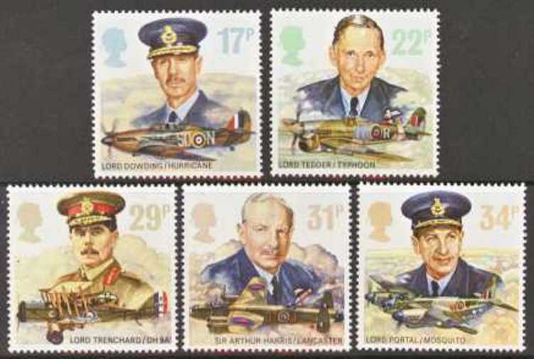 Great Britain Scott 1157-1161, MNH, 1986 Royal Airforce Commande