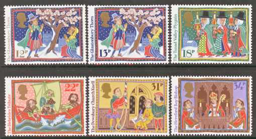Great Britain Scott 1162-1167, MNH, 1986 Christmas set of 6