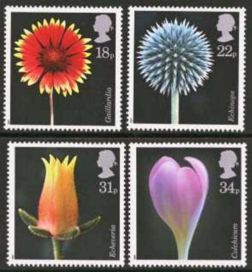 Great Britain Scott 1168-1171, MNH, 1987 Flowers, set of 4