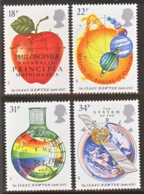 Great Britain Scott 1172-1175, MNH, 1987 Sir Isaac Newton, Physi