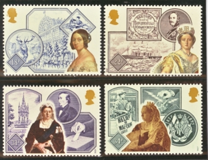 Great Britain Scott 1188-1191, MNH, 1987 Accession of Queen Vict