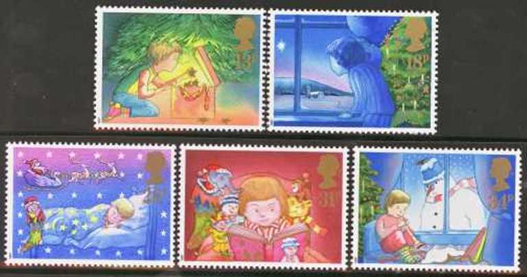 Great Britain Scott 1196-1200, MNH, 1987 Christmas, set of 5