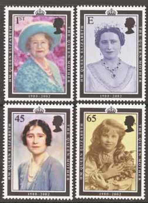 Great Britain Scott 2044-2047, MNH, 2002 Queen Mother, set of 4