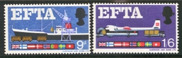 Great Britain Scott 0480-0481, MNH, 1967 EFTA set of 2