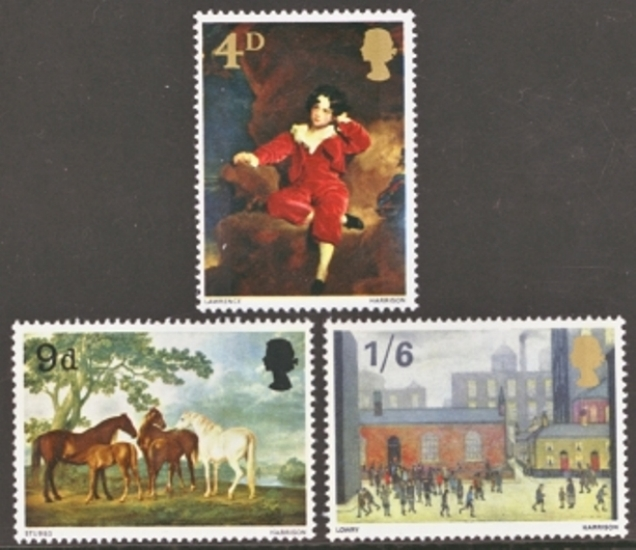 Great Britain Scott 0514-0516, MNH, 1967 Christmas Paintings, se
