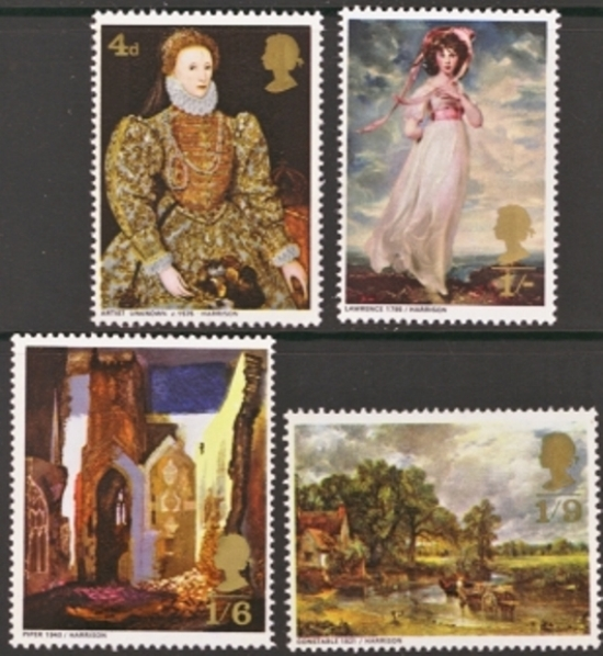 Great Britain Scott 0568-0571, MNH, 1968 Paintings set of 4