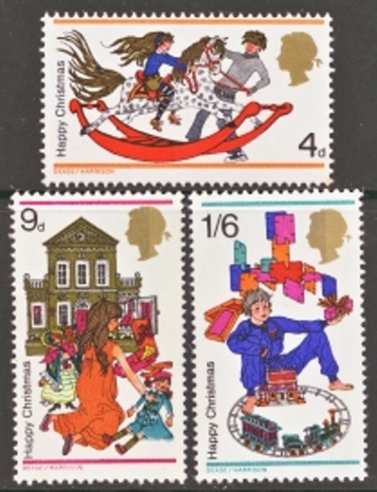 Great Britain Scott 0572-0574, MNH, 1968 Christmas, Set of 3