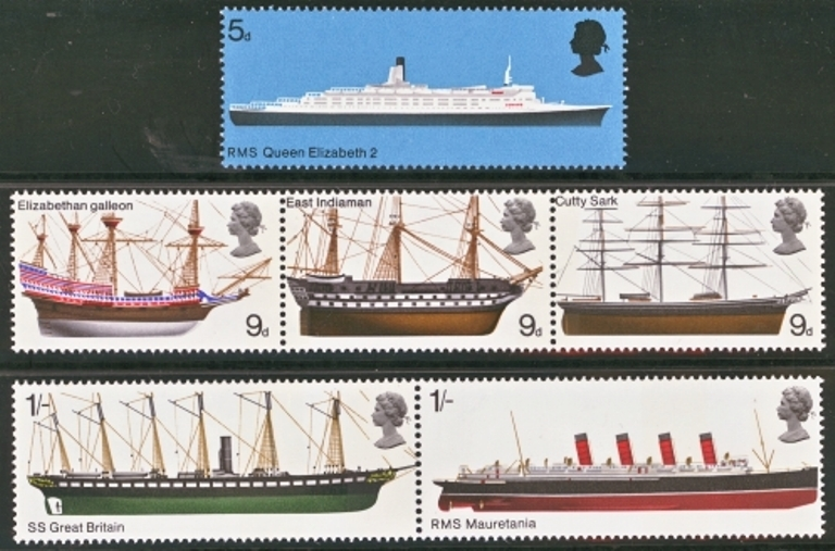 Great Britain Scott 0575-0580, MNH, 1969 British Ships, set of 6