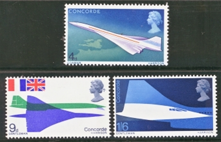 Great Britain Scott 0581-0583, MNH, 1969 Concord set of 3